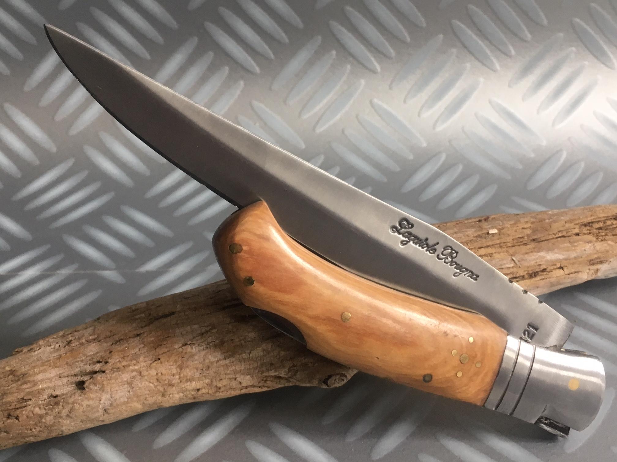 Couteau de chasse dague teck